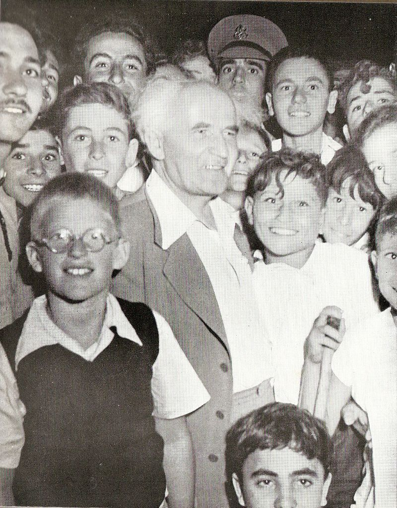 800px Ben Gurion with youth1