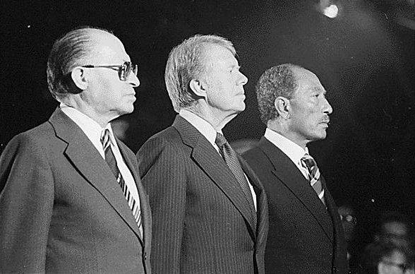 Begin Carter and Sadat at Camp David 1978